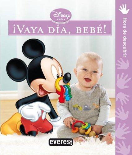 Portada del libro ¡Vaya día, bebé!: Hora de descubrir (Libros de cartón Disney)