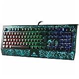 ACEPHA Pro Mechanische Gaming-Tastatur mit 105 RGB Beleuchtung Blaue Anti Ghosting Switches mit USB-Anschluss und Micro /Audio Buchse [QWERTZ, DE Layout]