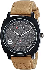 GlobalFad Curren Expedition Analog Water Resistant White Dial Men's Watch - CU1SWG