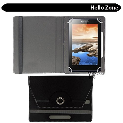 "Hello Zone 360° Rotating 7"" Inch Flip Case Cover Book Cover for Swingtel Hello Tab -Black  available at amazon for Rs.285"