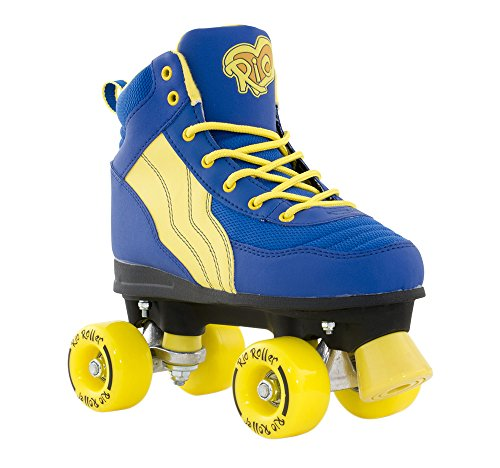 Wheels Roller Und Skate Trucks (Rio Roller - Pure Adults Skate - Blue UK 7)