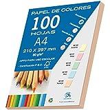 Dohe 30194 - Pack de 100 papeles A4, 80 g., color naranja pastel