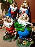4 Lustige Gartenzwerge Gnome 18cm Gartenzwerg Gartenfigur