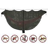 Moustiquaire pour Hamac de Lhedon, Filet Anti-moustiques Léger Portable Avancé pour Protection Contre les Moustiques à 360 °, Hamac de Camping Double Universel (Noir)