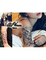 "Tatouage Temporaire ""Life is a Game"" - ArtWear Tattoo Skull - B0089 M"