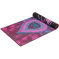 Gaiam -Estera de yoga con impresion premium, reversible, color: Be Free, 68-Inch x 24-Inch x 5mm