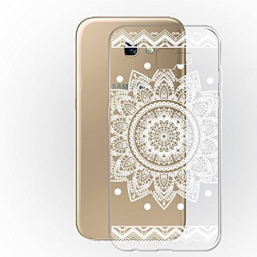 Samsung Galaxy A5 2017 ( A520F ) Hülle Schwarz Backcover Silikon Schutzhülle im Basic Design Cover aus TPU Rückschale Mandala 3