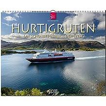 HURTIGRUTEN - Die schönste Seereise der Welt: Original Stürtz-Kalender 2018 - Großformat-Kalender 60 x 48 cm