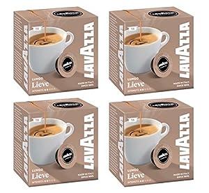 Lavazza A Modo Mio Lungo Lieve 16 Coffee Capsules (Pack of 4)