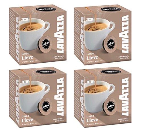 Find Lavazza A Modo Mio Lungo Lieve 16 Coffee Capsules (Pack of 4) from Lavazza