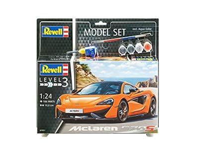 Revell Modellbausatz Auto 1:24 - McLaren 570S im Maßstab 1:24, Level 3, originalgetreue Nachbildung mit vielen Details, , Model Set mit Basiszubehör, 67051 von Revell