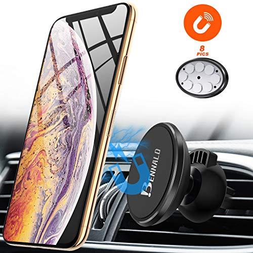 Handyhalterung Auto Lüftung, Handyhalter fürs Auto Magnet Handyhalter Autohalterung Universal Smartphone Halterung Kfz 360° Drehbar für iPhone XS MAX XR 8 7 7Plus 6s, Samsung S10 S9 S8 S7 Huawei usw.