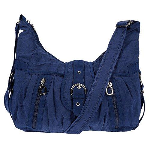 Christian Wippermann®, Borsa a spalla donna blu Blau 33 x 20 x 13 cm ( Blau