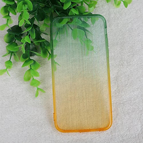 IPhone6/6S Plus Case JNTworld Brushed Silk Fil Texture Shell Silicone Transparent,vert,4.7inch vert