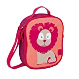 Lässig Lässig Kühltasche Mini Lunch Bag, Wildlife Löwe Borsa Messenger, 25 cm, Rosa