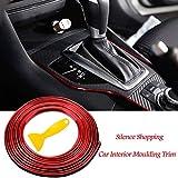 Silence Shopping 5M 3D bricolage automobile moteur de voiture intérieur décoration extérieure moulage Trim ligne de bande Autocollant (Red)...