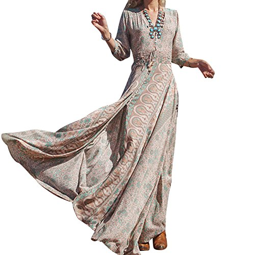 laozan-femmes-robe-bohme-longue-col-v-florale-fendue-sur-ct-fluide-et-elegante-kaki-small