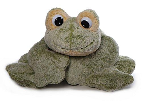 Inware 5644 - Kuscheltier Frosch Freaky, liegend, grün/gelb, XXL, 97 cm