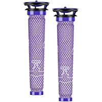NeBatte 2x Washable Pre Motor Stick filtros Pack de 2 compatible Dyson DC58 DC59 DC61 DC62 DC74 V6 V7 V8 SV03 SV05 SV06 SV09 965661-01 para animales Aspiradoras de mano