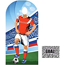 BundleZ-4-FanZ by Starstills Fan Pack - World Cup Football 2018 Russia Stand-In Lifesize Adult Cardboard Cutout with 20cm x 25cm Star Photo
