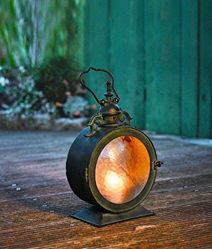 SIDCO ® Metall Laterne Bullauge Windlicht Gartenlaterne Laterne Kerzenhalter Gartenlampe