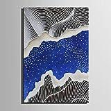 """HJL Pintada a mano Abstracto Fantasía Vertical,Modern Estilo europeo Un Panel Lienzos Pintura al óleo pintada a colgar For Decoración hogareña , without inner frame , 7"""" x 10"""""""