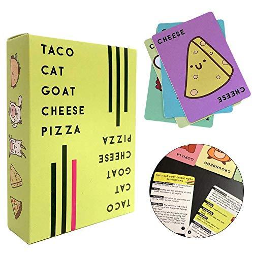 Taco Cat Ziegenkäse Pizza Puzzles Kartenspiel und eine lustige Tischspielparty mit Freunden für Brettspiele, Tischspiele, Familientreffen, Kinderspiele, Eltern-Kind-Spiele usw.