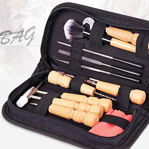 LNDDP Kit di Strumenti Chitarra Portatile Ukulele Basso Banjo Violino Riparazione Manutenzione Set di Strumenti per la Pulizia - Nero, Strumenti utili per la casa