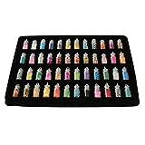 GONO 48 x Nailart Fläschchen mit Microperlen Pailetten Bunte mehrfarbig Eine Vielzahl von Mustern Fimo Rauten