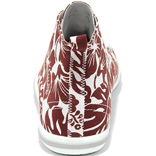 86203 sneaker alta PRADA SPORT scarpa donna shoes women bianco/bordeaux
