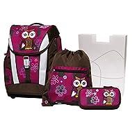 Schneiders Set de sacs scolaires, Bordeaux (Rouge) - 10007907