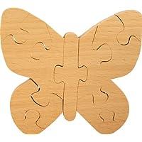 Puzzle à colorier bois enfant. Puzzle papillon enfant en bois 100% hêtre. Fabriqué Europe