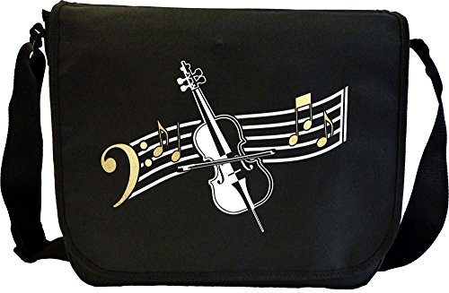 Cello Curved Stave - Sheet Music Document Bag Musik Notentasche (Outfit Dirigent)