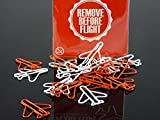 Remove Before Flight�Plane Clips, Paper Clips, Red/White