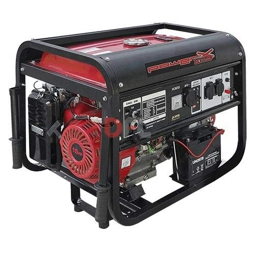 Powerx - Generador corriente 4 tiempos gasolina ph5500c - 5,5 kw hp 15
