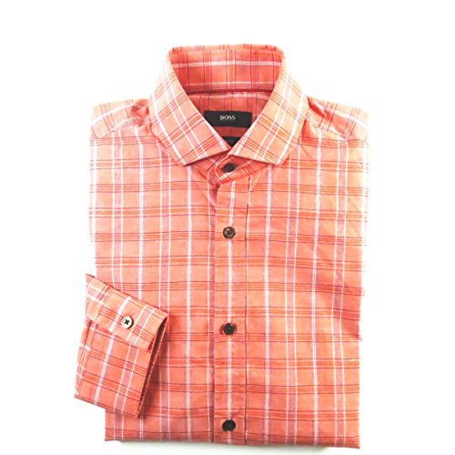 Hugo Boss Hemd Herren Langarm *Mason*2 rotkariert Gr.S, M, L, XL (L) (Knitterfrei Oxford-hemd)