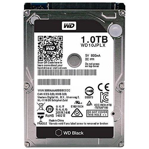 WD Black Mobile 1 TB interne Festplatte SATA 6Gb/s 32MB interner Speicher(Cache) 6,4 cm 2,5 Zoll, 9,5 mm hoch 7200rpm WD10JPLX Bulk