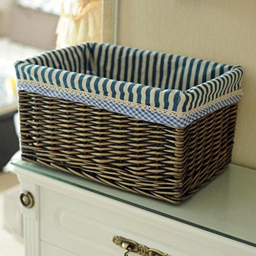 BBYE Immagazzinaggio Del Rattan Basket / Abbigliamento Snack Box Bagagli / Stoccaggio Cosmetici Box / Desktop Detriti Storage Box ( colore : #1 , dimensioni : M )
