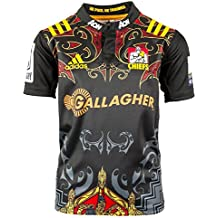 Waikato Chiefs 2016Home Kids Super Rugby S/S camiseta de Rugby Rojo rosso Talla:7-8 años