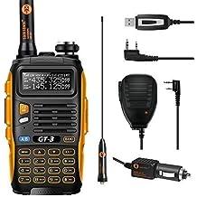 Baofeng PoFung GT-3 Mark-II Tri-transceptor FM radio de dos vías, de doble banda 136-174 / 400-520 MHz, Tri-Power cuarto / 8W, parlante remoto y programación por cable Incluido (GT-3 MARK II)