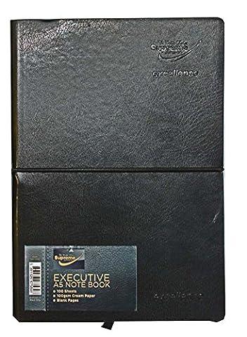 A5Executive Notizbuch 100g/qm creme uni + Stift