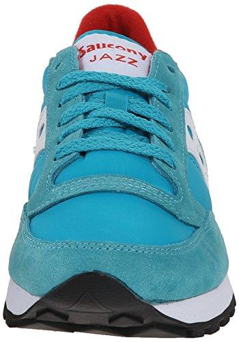 Saucony Jazz Original mixte adulte, suède, sneaker low Aqua Blue/Red
