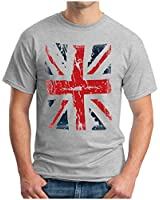 OM3 - ENGLAND - T-Shirt UNION JACK Vintage GB Commonwealth GBP WINDSOR Westminster, S - 5XL