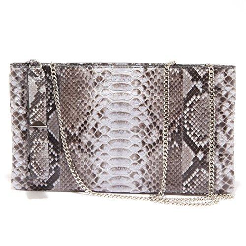 3542Q borsa donna ORCIANI pochette a mano grigio/azzurro hand made bag woman [Taglia unica]