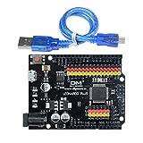Diymore leonardo R3 plus Mikrocontroller Entwicklungsboard I / O Micro Shield Modul ATmega32U4 für Arduino Leonardo R3 mit Kopfhörern und Kabel SPI I2C