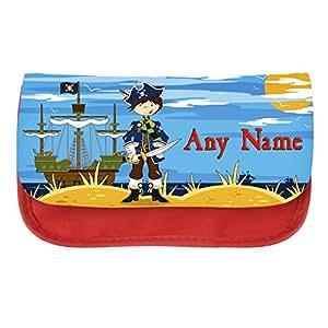 Personnalisé garçon-Trousse scolaire-Petits Pirates, Japan Design personnalisée pour étuis cadeaux scolaires, les crayons pour enfant, crèche, cadeaux scolaires
