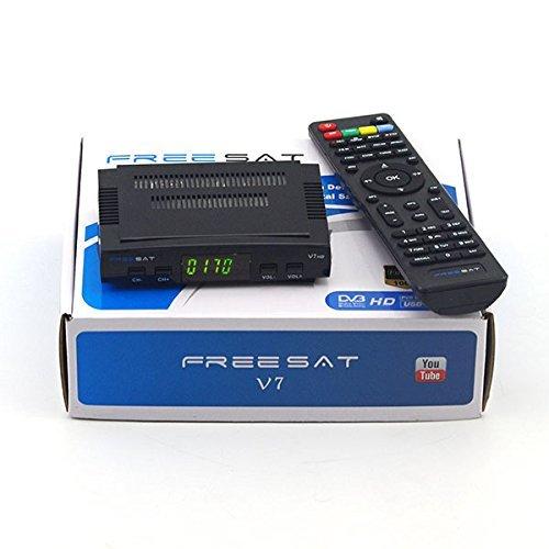 V7 HD Receptor de TV Satélite DVB-S2 Digital 1080P Satélite Decodificador