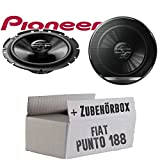 Fiat Punto 2 188 Front - Lautsprecher Boxen Pioneer TS-G1720F - 16cm 2-Wege Koax Koaxiallautsprecher Auto Einbausatz - Einbauset