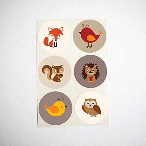 e Aufkleber von Once Upon Supplies, Umschlag Robben, Cupcake Topper, Favor Runde Etiketten, 3,8cm 30 Stickers ()