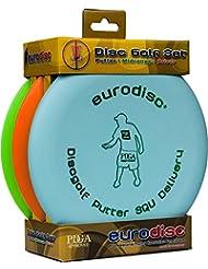 Eurodisc Disc Golf Starter Kit Squ Putter altavoz pdga Aprobado Menta